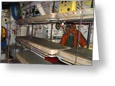 Sleeping Area Russian Submarine Greeting Card