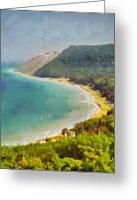 Sleeping Bear Dunes Lakeshore View Greeting Card