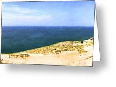 Sleeping Bear Dunes Panorama Greeting Card