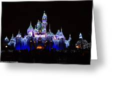 Sleeping Beauties Castle At Christmas Greeting Card