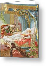 Sleeping Beauty And Prince Charming Greeting Card
