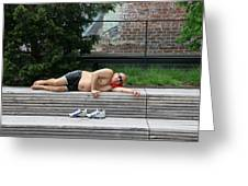 Sleeping Beauty On The High Line Greeting Card