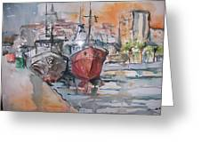 Sleeping Boats Greeting Card