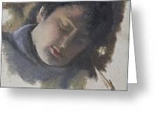 Sleeping Gabi Greeting Card