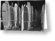 Sleeping Surfboards Greeting Card