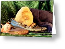 Sleeping Teddy Greeting Card