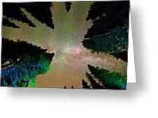 Sleeping Under The  Milky Way Stars Greeting Card
