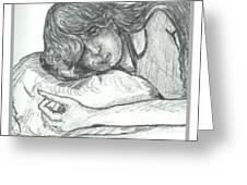 Sleepy Beauty Greeting Card
