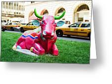 Cow Parade N Y C 2000 - Sleepy Time Cow Greeting Card