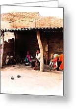 Slice Of Life Mud Oven Chulha Tandoor Indian Village Rajasthani 1b Greeting Card