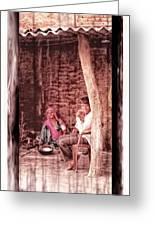 Slice Of Life Mud Oven Chulha Tandoor Indian Village Rajasthani 1c Greeting Card