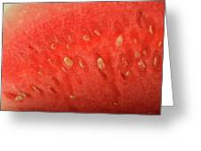 Slice Of Watermelon (detail) Greeting Card