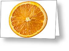 Sliced Orange Greeting Card