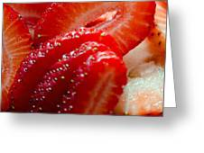 Sliced Strawberries Greeting Card