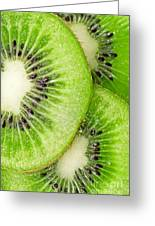 Slices Of Juicy Kiwi Fruit Greeting Card