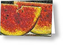 Slices Of Watermelon Greeting Card