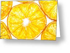 Slices Orange. Greeting Card by Slavica Koceva