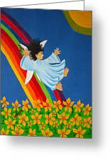 Sliding Down Rainbow Greeting Card