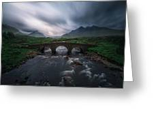 Sligachan Storm. Greeting Card