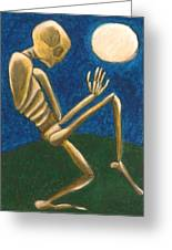 Slinking Through The Night Greeting Card