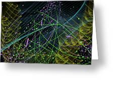 Slinky Celebration Greeting Card by Camille Lopez