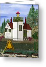 Slip Point Lighthouse Vintage Greeting Card