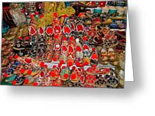 Slippers For Sale In Istanbul-turkey Greeting Card