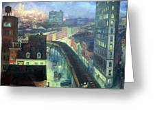 Sloan's The City From Greenwich Village Greeting Card