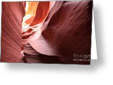 Slot Canyon Color Blend Greeting Card