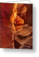 Slot Canyon Detail Corkscrew Or Upper Antelope Slot Canyon Arizona Greeting Card