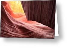 Slot Canyon Sun Greeting Card