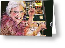 Slot Machine Queen Greeting Card