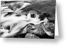 Slow Flow Black And White Greeting Card