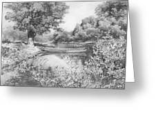 Slow River  Greeting Card