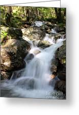 Slow Shutter Waterfall Scotland Greeting Card