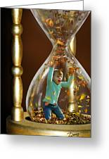 Slowing Time's Passage Greeting Card by Doug Kreuger