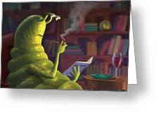 Sluggo's Scary Book   Greeting Card