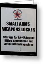 Small Arms Signage Russian Submarine Greeting Card