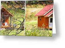 Small Cabin In Stereo Greeting Card