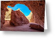 Small Canyon In Chile Greeting Card