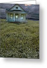 Small Cottage In Storm Greeting Card