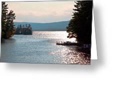 Small Dock On Lake George Greeting Card