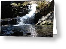 Small Falls Greeting Card by Edward Hamilton
