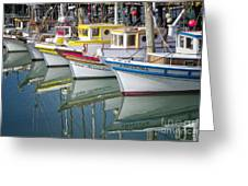 Small Fishing Boats Of San Francisco  Greeting Card