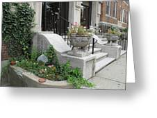 Small Garden In Big City Greeting Card