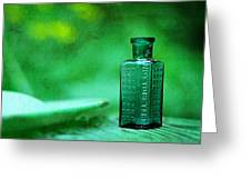 Small Green Poison Bottle Greeting Card