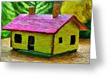 Small-house- Painting Greeting Card