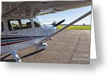 Small Plane In Private Airport Greeting Card