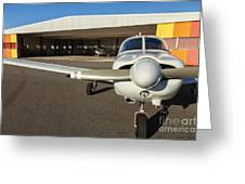 Small Planes In Private Airport Greeting Card