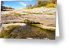 Small Pond Devonian Fossil Gorge Greeting Card